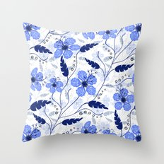 Floral pattern on a white background Throw Pillow