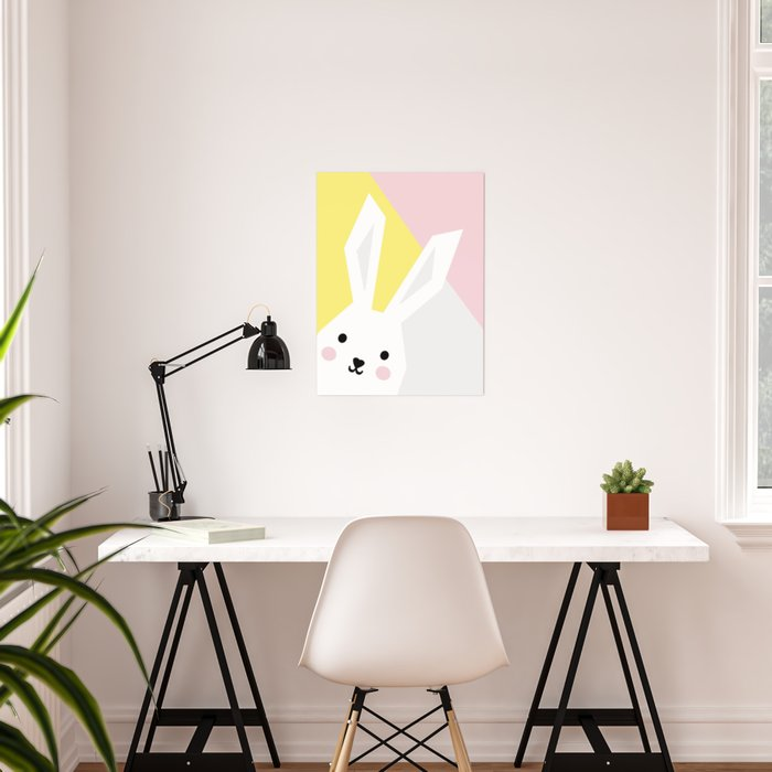 Rabbit - Colorful Poster, modern art Poster