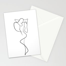 Lovers - Minimal Line Drawing 1 Stationery Cards
