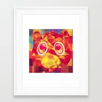teddy bear Framed Art Prints featuring TEDDY by Original Bliss
