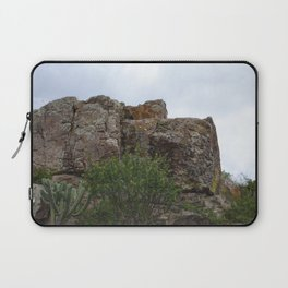 Mountain and Cactus overlay Laptop Sleeve