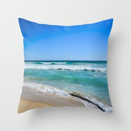 Australian Beach Throw Pillow