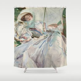"""John Singer Sargent """"The Lady with the Umbrella"""" Shower Curtain"""