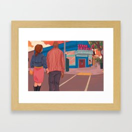 The Problem with Putting Your Name on a Restaurant Framed Art Print