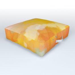 abstract spring sun Outdoor Floor Cushion