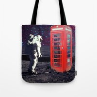 Tote Bags featuring Phone Box by Cs025