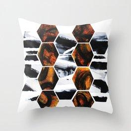 Geo Earth  Throw Pillow