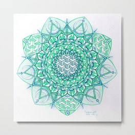 Bluegreen Metal Print