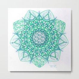 Bluegreen Metal Print