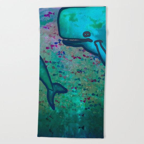 Dear Whale Beach Towel