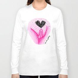 Pubic Heart - Neon Pink Long Sleeve T-shirt