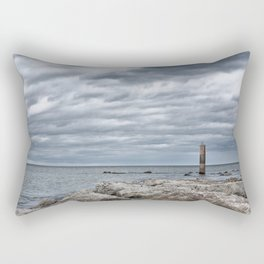 A cloudy day in Marina of Montemarciano, Italy Rectangular Pillow