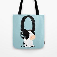 La vache mélomane Tote Bag
