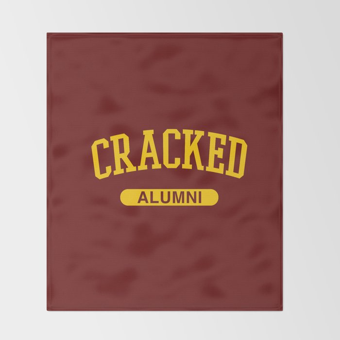 Cracked Alumni Throw Blanket