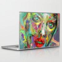 archan nair Laptop & iPad Skins featuring Ultraviolet Drops by Archan Nair