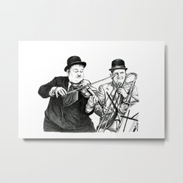 Laurel and Hardy Metal Print