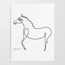 Pablo Picasso, Horse Artwork, Animals Sketch, Prints, Posters, Tshirts, Bags, Men, Women, Kids Poster