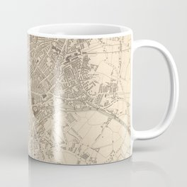Vintage Map of Leeds England (1851) Coffee Mug