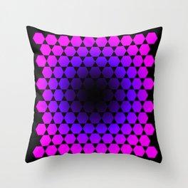Void Hexagon Pattern Throw Pillow
