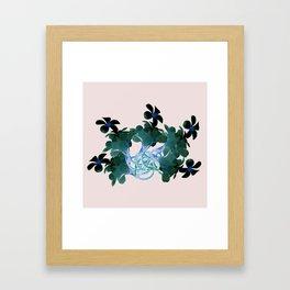Marine halo Framed Art Print