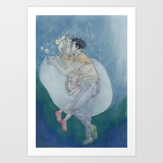 Best Underwater Kiss Art Print
