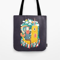 unicorn Tote Bags featuring Unicorn by Seaside Spirit