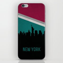 New York Skyline iPhone Skin