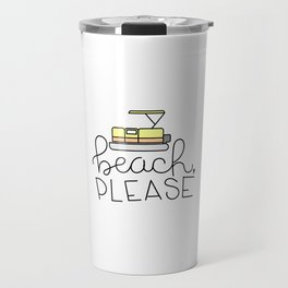 Beach, Please (pontoon edition) Travel Mug
