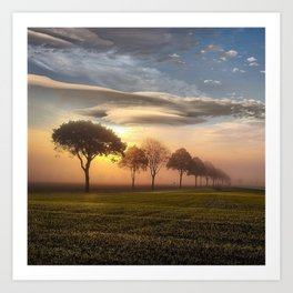 Big sky and clouds on a picture perfect night Art Print