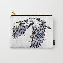 Heron Geometric Bird Carry-All Pouch