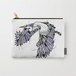 Heron Geometric Bird Carry-All Pouch