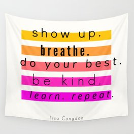 Show Up Motivational Quote Wall Tapestry