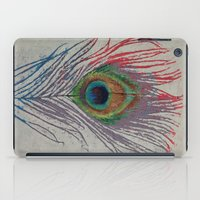 peacock feather iPad Cases featuring Peacock Feather by Michael Creese