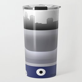 Des Moines - DSM - Airport Code and Skyline  Travel Mug