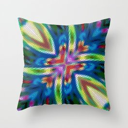Cosmic Serpent Rainbow Throw Pillow