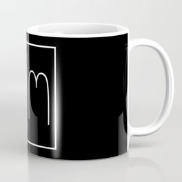 """ Mirror Collection "" - Minimal Letter W Print Coffee Mug"