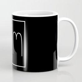 """ Mirror Collection "" - Minimal Letter W Print Coffee Mug"