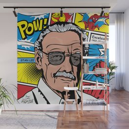 Stan Lee Pop Art Wall Mural