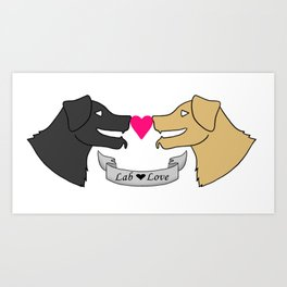 Lab Love Art Print