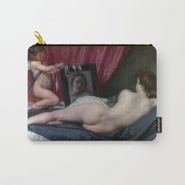 """Diego Velázquez """"The Rokeby Venus (The Toilet of Venus, Venus at her Mirror, Venus and Cupid)"""" Carry-All Pouch"""