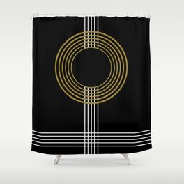 GUITAR IN ABSTRACT (geometric art deco) Shower Curtain