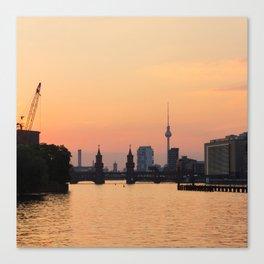 berlin kreuzberg -  skyline and sunset Canvas Print
