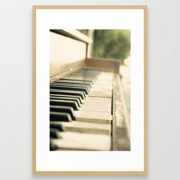 Tickling The Ivories Abandoned Piano Urban Exploration, Urbex, Music, Musical Instrument Framed Art Print