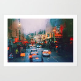 Beautiful traffic lights in london Art Print