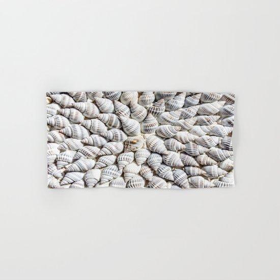 White Seashells Pattern Hand & Bath Towel