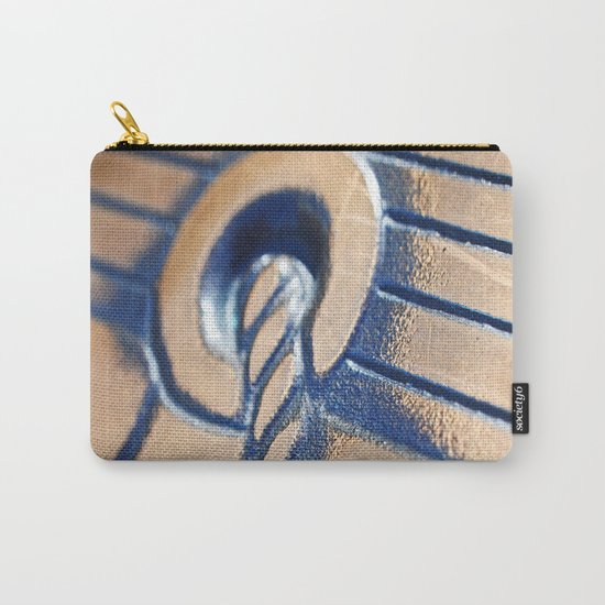 Abstract and Gold Carry-All Pouch