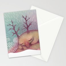 Deep Winter Dreaming (With Eyes Closed) Stationery Cards