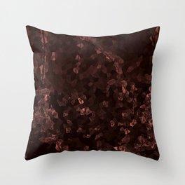 Stone coral - dark Throw Pillow