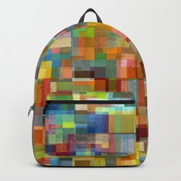 Colorful Collage with Layers Backpack