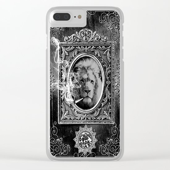 King Smokey black and white Clear iPhone Case